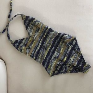 Rare Missoni Metallic Knit One Piece Swimsuit